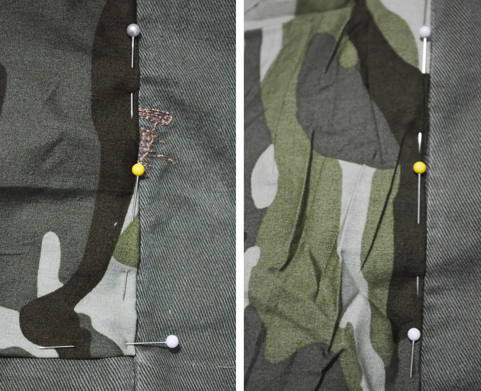 khaki shirt pins diy camouflage camo fabric