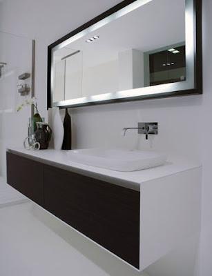 Modernos dise os de espejos para el ba o for Espejos decorativos modernos para sala