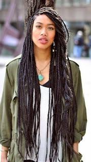 Modele coiffure vanille afro