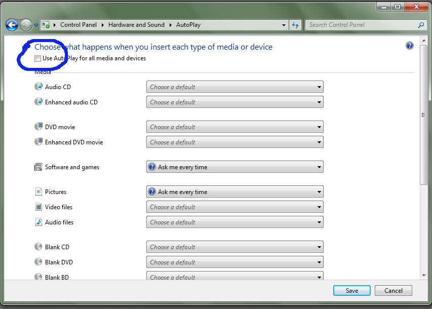 Turn Off Autoplay USB