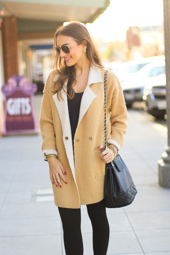 free people camel color sweater jacket coat