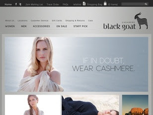 Ecommerce Website : Black Goat Cashmere