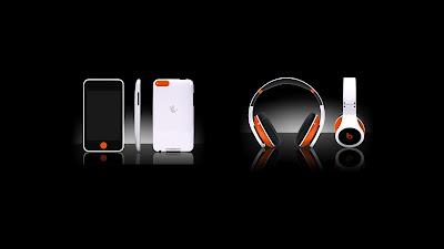Orange beats headphones wallpapers with phones