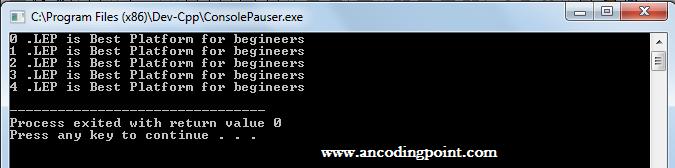 While Loop in C++