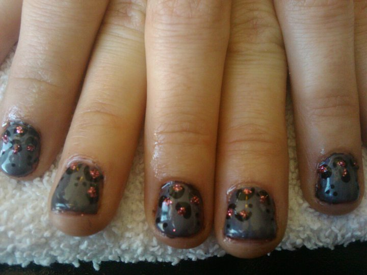 love these shellac nails that I did! Doing designs with shellac is