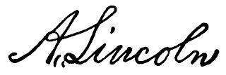 Tanda Tangan Abraham Lincoln
