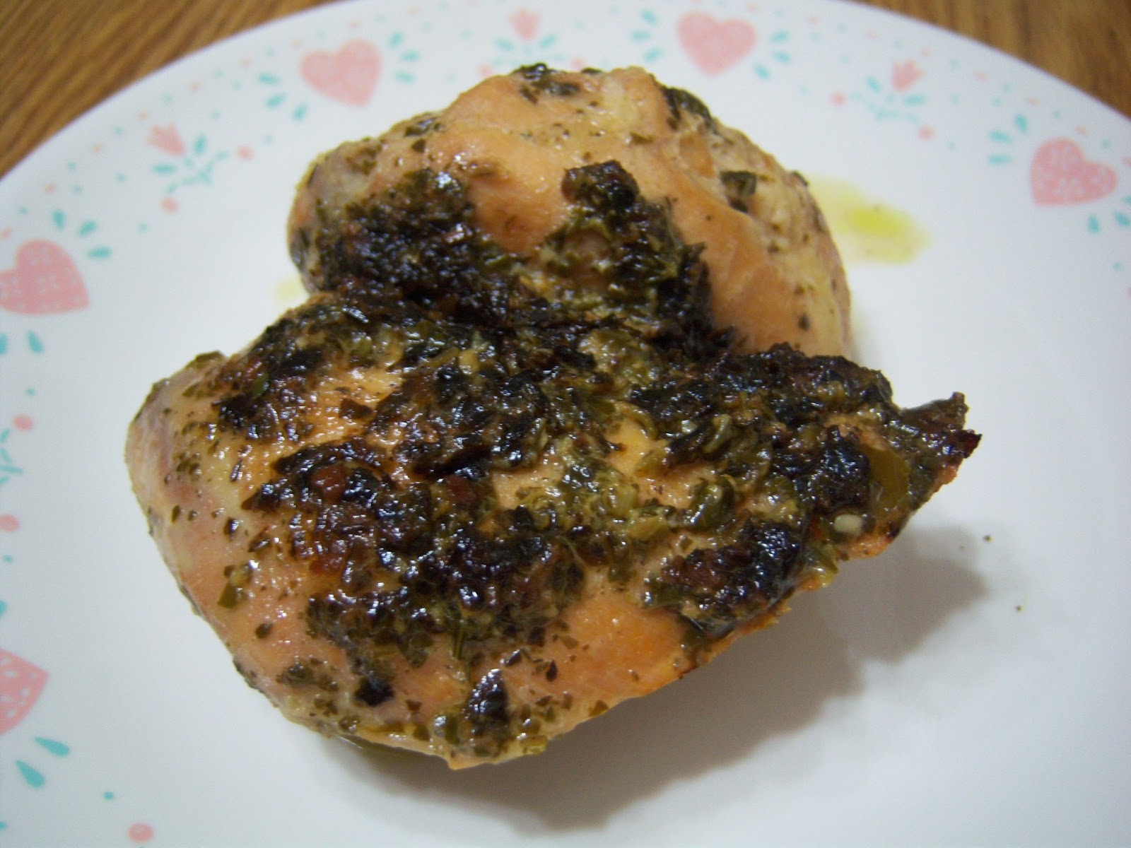 ... chicken thighs 6 oz jar pesto 1 pkg ranch dressing mix 1/2 cup chicken