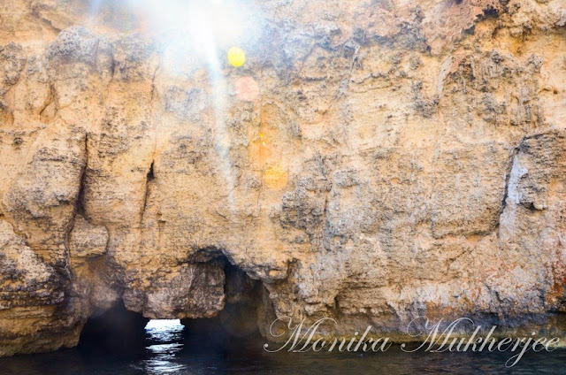 Caves and Comino Island Blue Lagoon Malta by Monika Mukherjee