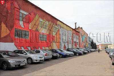 Минск, улица Октябрьская, сплошные граффити