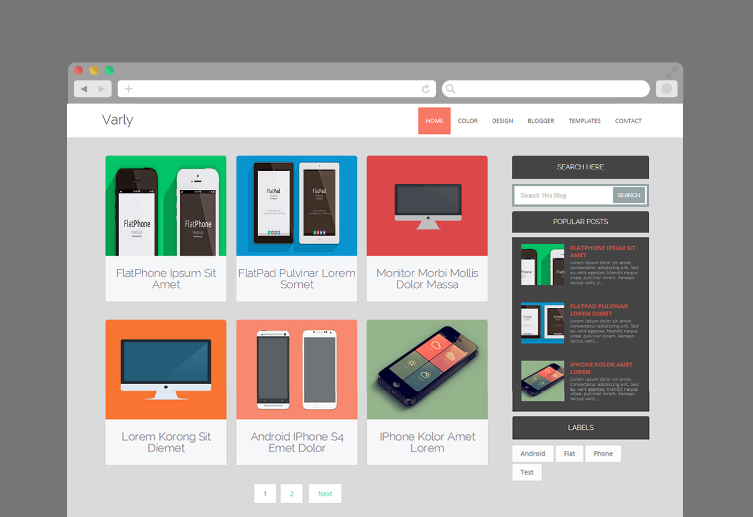Template Blogspot Varly cho trang bán hàng