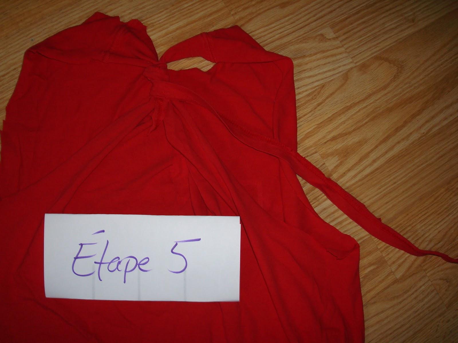 Pinteressaie transformer un t shirt en camisole d - Plier un t shirt ...