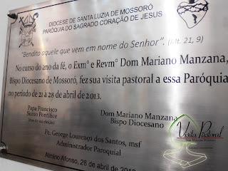 Imagens da Santa Missa de encerramento da Visita Pastoral de Dom Mariano a Paróquia de Almino Afonso - RN