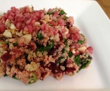 Dr Weil quinoa tabbouleh beet recipe