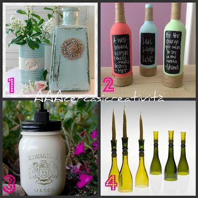 Idee per riciclare contenitori e bottiglie di vetro - Bottiglie vetro decorate ...