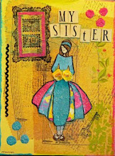 "Mixed media collage-""My sister"""