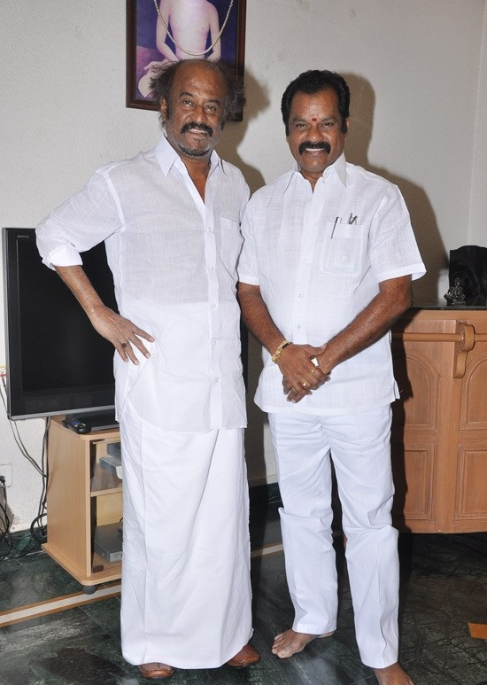 Rajinikanth Latest Photos At Kootanchoru Restaurant Private StillsPics show stills