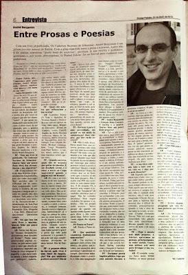André Benjamim, Entrevista