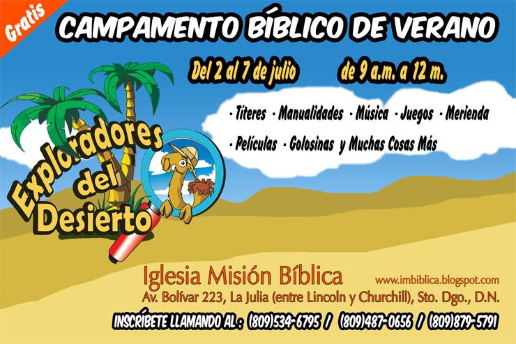 Iglesia Misión Bíblica: Campamento Bíblico de Verano 2012