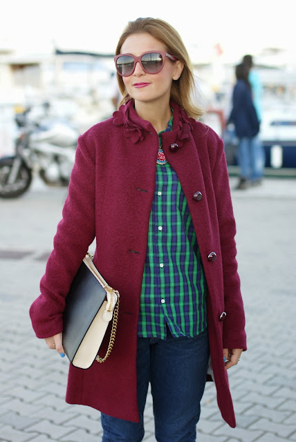 Carhartt shirt, plaid shirt, cappotto VerySimple, boiled wool coat, Fashion and Cookies, fashion blogger