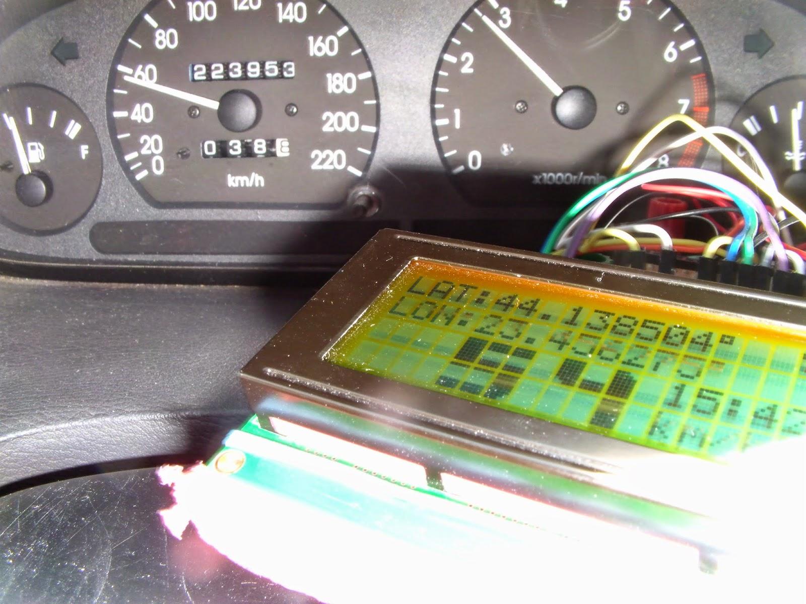 Arduino tehniq old gps receiver and speedometer