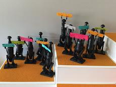 Statues Dogon réalisées par les enfants (CM2) pendant les Temps d'Activités Périscolaires
