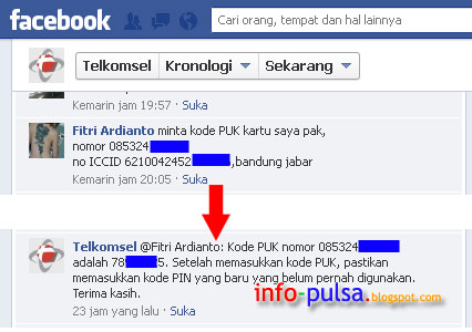 Cara Dapetin Kode PUK Telkomsel di Facebook