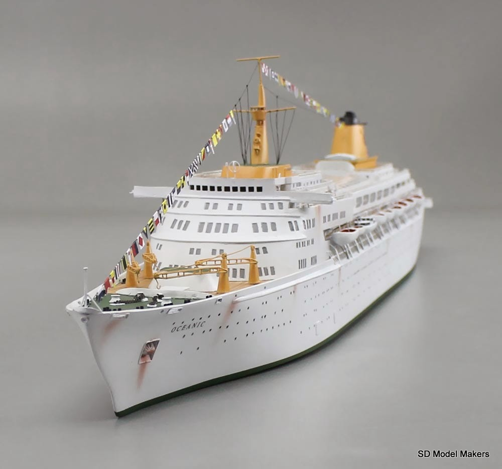 """... Oceanic Waterline Model with light """"weathering""""   SD Model Makers"""