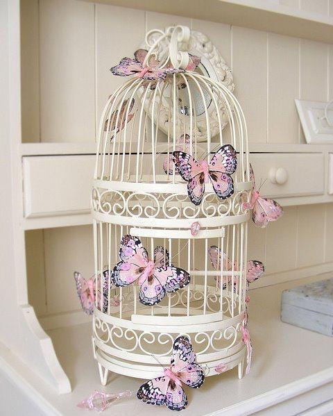Decorando com gaiolas cansei de rosa - Articoli decorativi per la casa ...