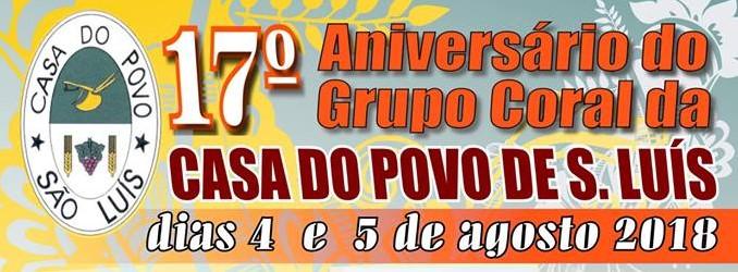 17º. Aniversário do Grupo Coral da Casa do Povo de São Luís - Odemira