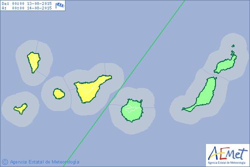 Alertas por viento, lluvias y costeros en Tenerife, La Palma, La Gomera y El Hierro