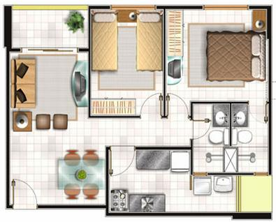 Planos de casas modelos y dise os de casas planos de for Planos de casas de tres recamaras