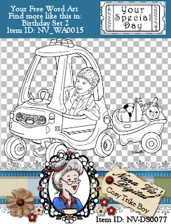 Cosy Trike BOY digital stamp