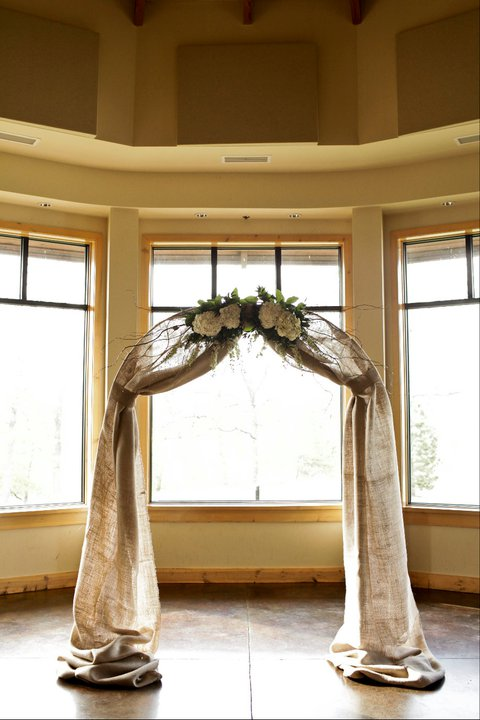 Need help w ideas to decorate wood trellis arch for Diy indoor wedding arch