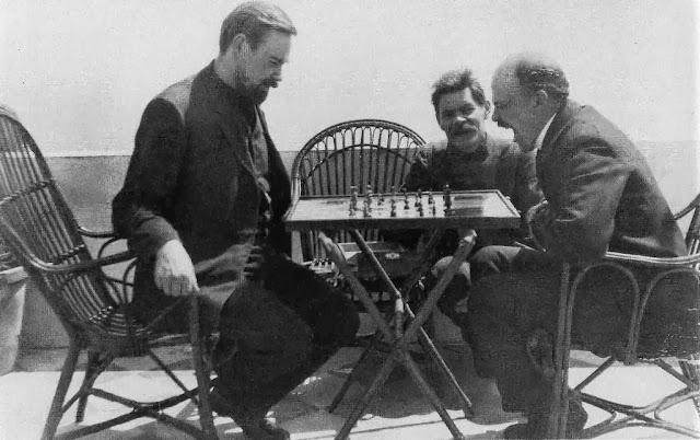 Ленин и Горький на острове Капри
