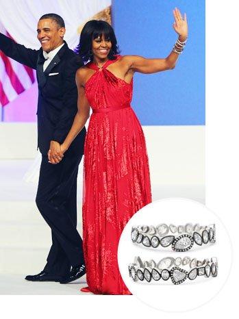 michelle obama inaugural jewelry