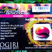 Batu Permata Fire Opal Jumbo Langka - SP614 + Memo