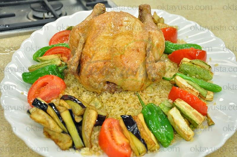 Bulgur Pilavlı Fırın Tavuk Tarifi