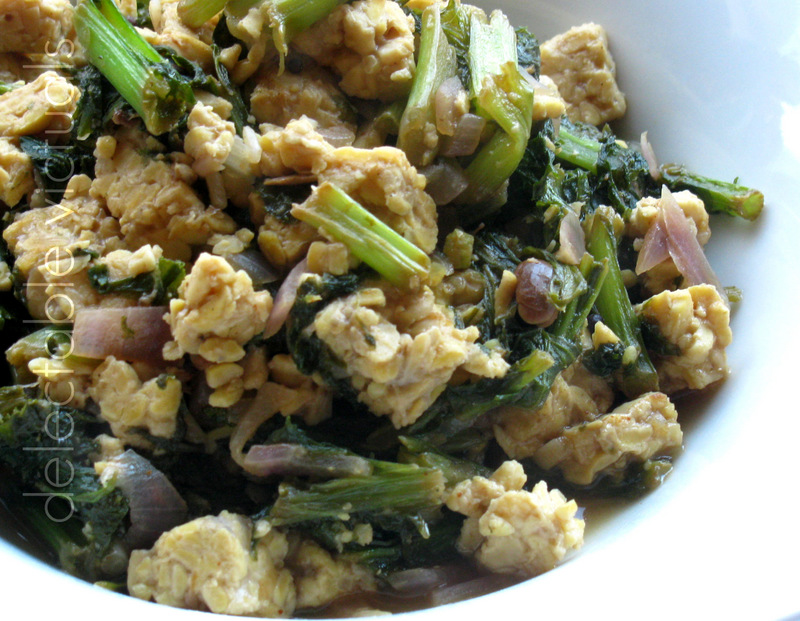 mustard green tempeh