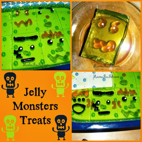 halloween treat jelly monsters jello