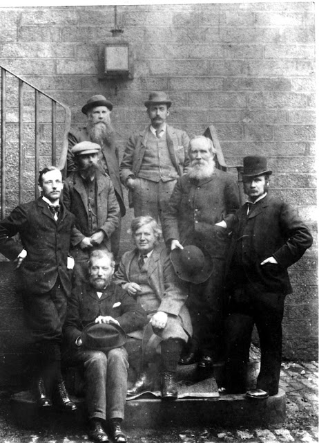 Geological Survey of Scotland staff on the steps of Sherriff Court, Edinburgh