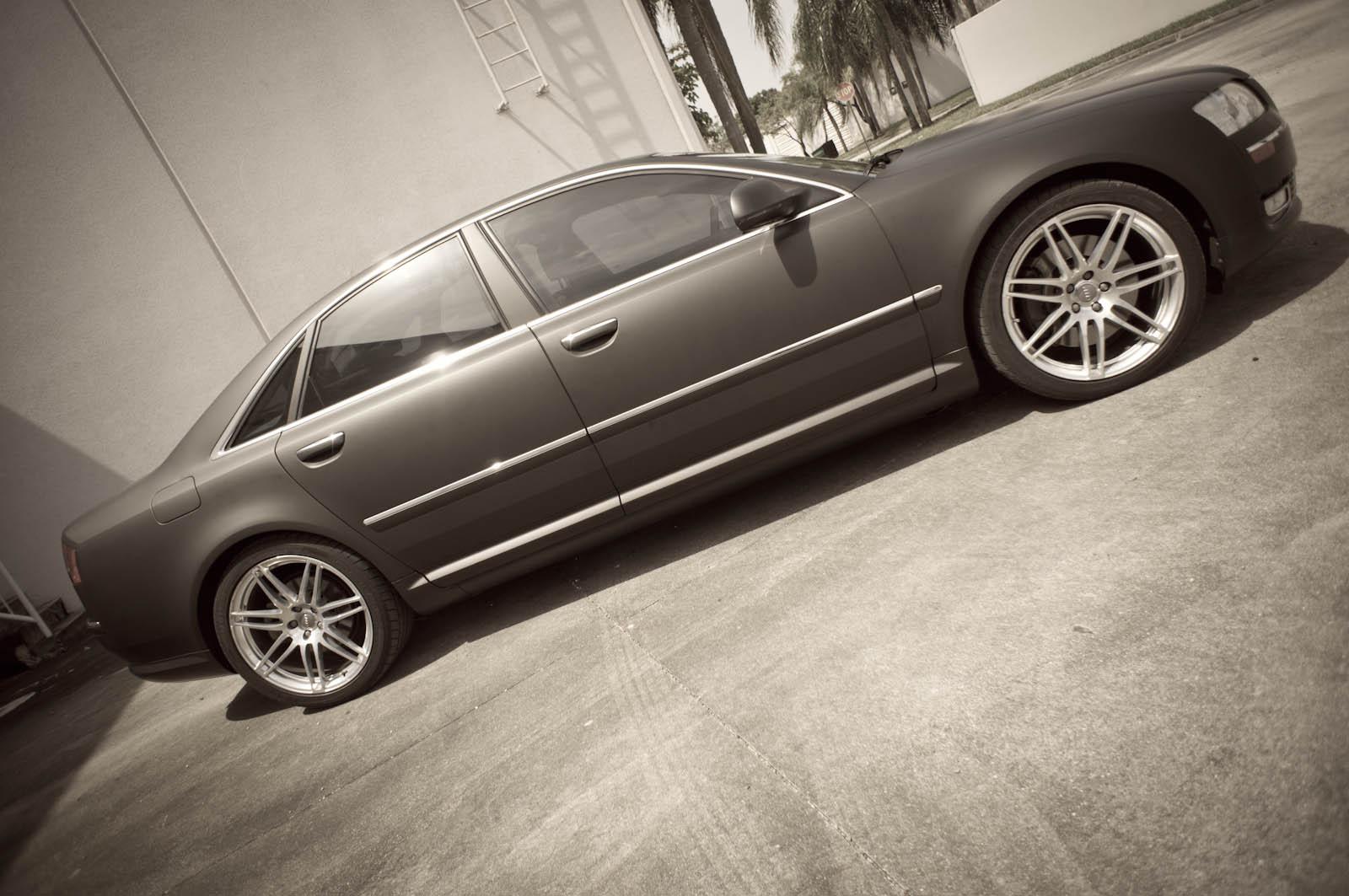 Miami Audi A8 Matte Black Car Wrap By 3m Certified Car
