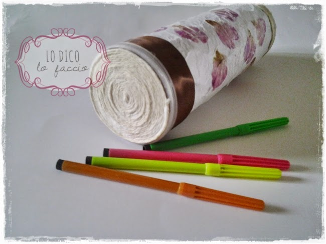 porta penne con carta di riso