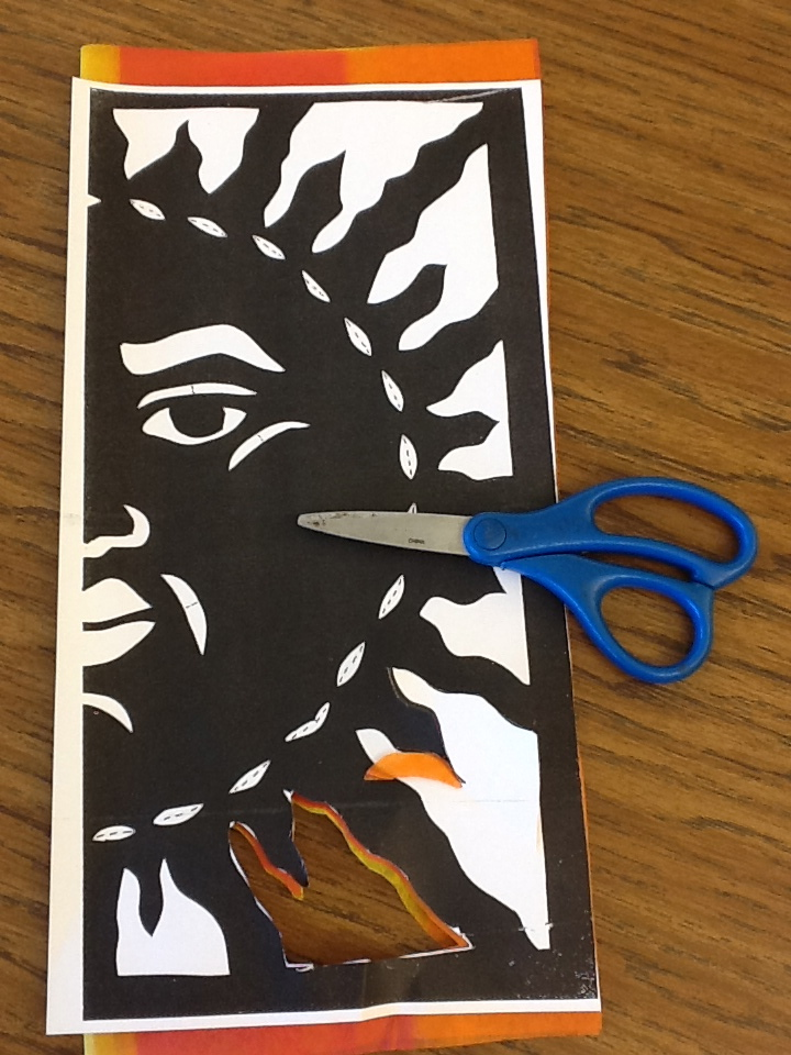 papel picado template for kids - the other side of the spanish classroom papel picado