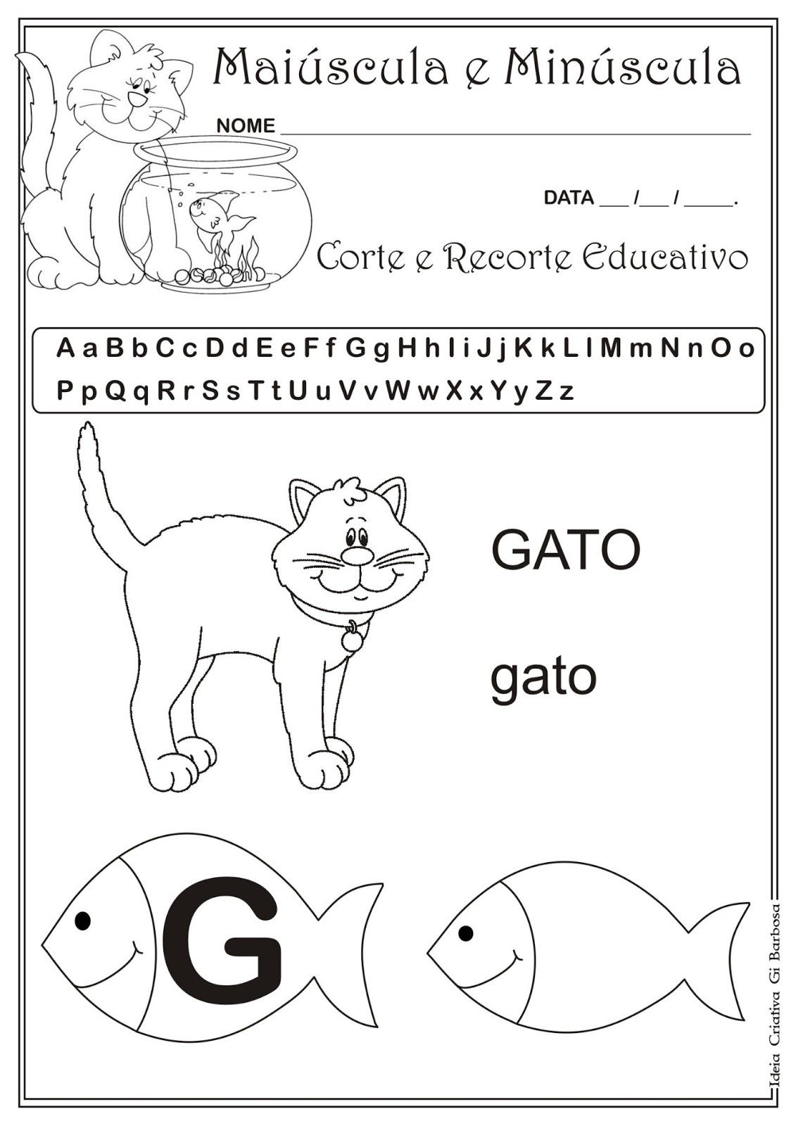 Preferência Caderno de Atividades Grátis para imprimir - Corte e Recorte  NG34