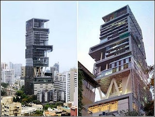 Antilla di Mumbai India, dibangun oleh Mukesh Ambani
