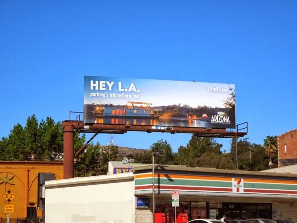 Hey LA Arizona tourism billboard