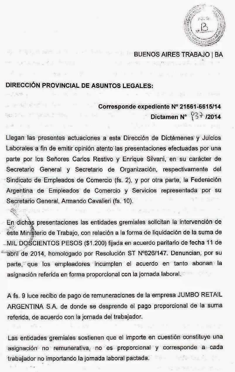 $1200 Empleados de Comercio: El Ministerio de Trabajo trabajo también avaló a FAECyS