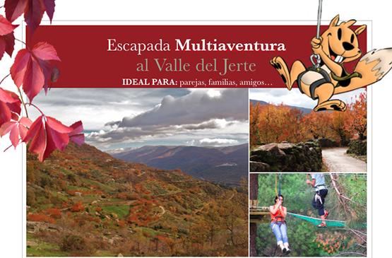 Valle del Jerte: Escapada multiaventura otoño 2014