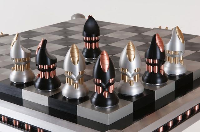 Machine Metal Chess Set