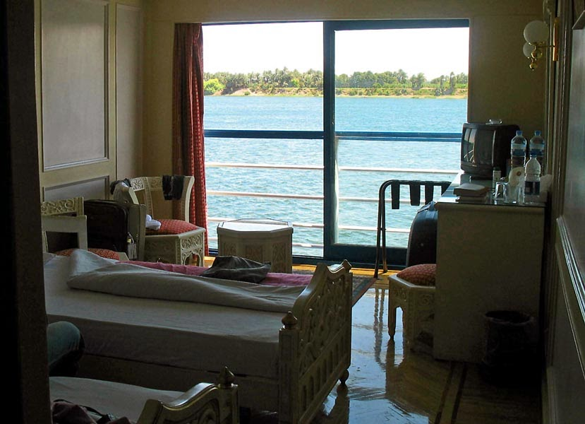 Room on a cruise liner on the river Nile